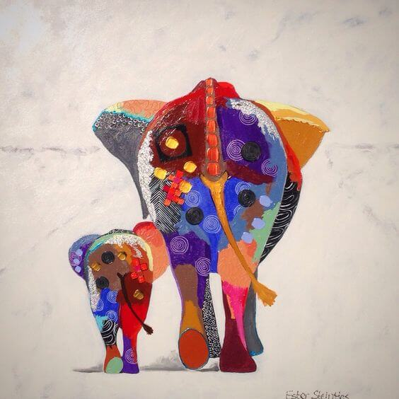 Dich selbst zu schätzen - Illustration Elefanten
