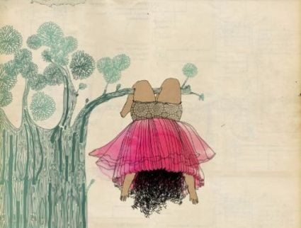 Ein glückliches Kind - Zeichnung Mädchen