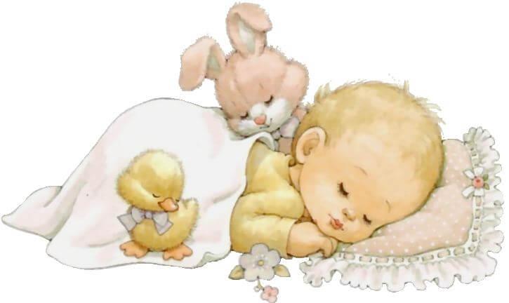 Liebe Mama - Zeichnung schlafendes Baby