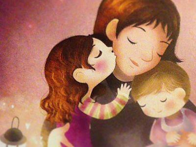Mein Kind - Zeichnung Mutter und Kinder