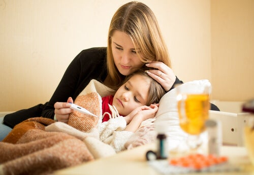 Behandlung von Schluckauf, Fieber und Erbrechen