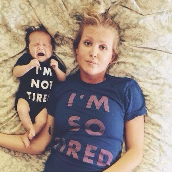 Eine müde Mutter zu sein hat Folgen