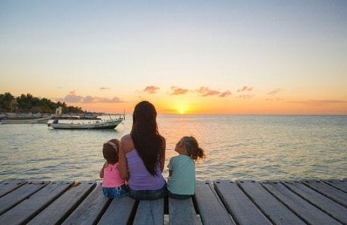 Mütter haben keine Ferien am Strand