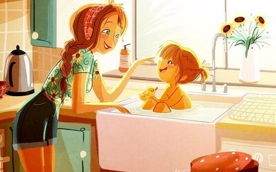 Alleinerziehend - Mutter mit Tochter