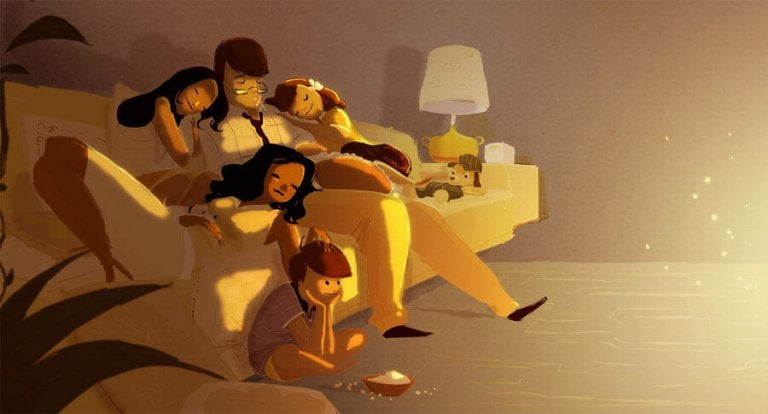 Als Eltern erschöpft