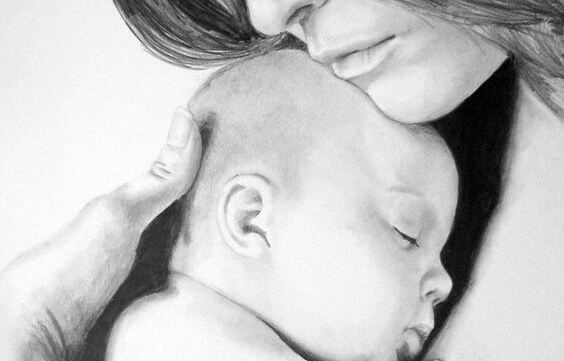 Baby ist in deinen Armen