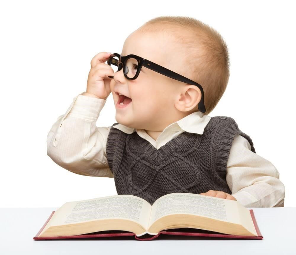 das Gedächtnis - Baby mit Buch