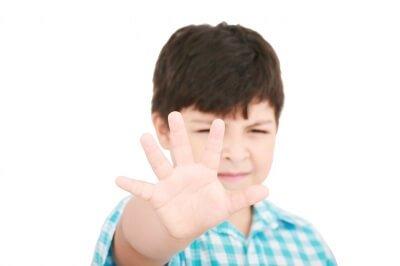 Unterwäsche Regel - junge-sagt-stop