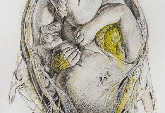 Zuhause deines Babys - baby-im-bauch-zeichnung