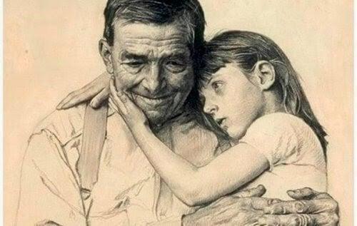 Brief an Vater: Kind mit Großvater