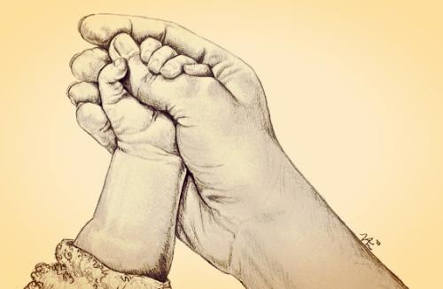 Wenn die kleine Hand deines Babys nach deinem Finger greift