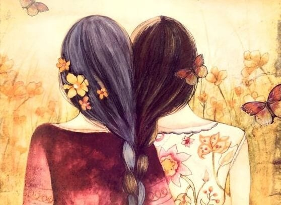 Zeichnung zwei Frauen