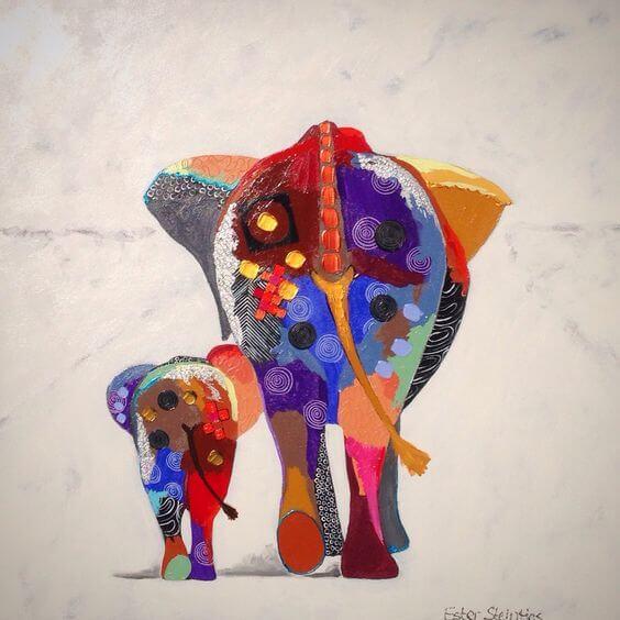 Zeichnung Elefanten