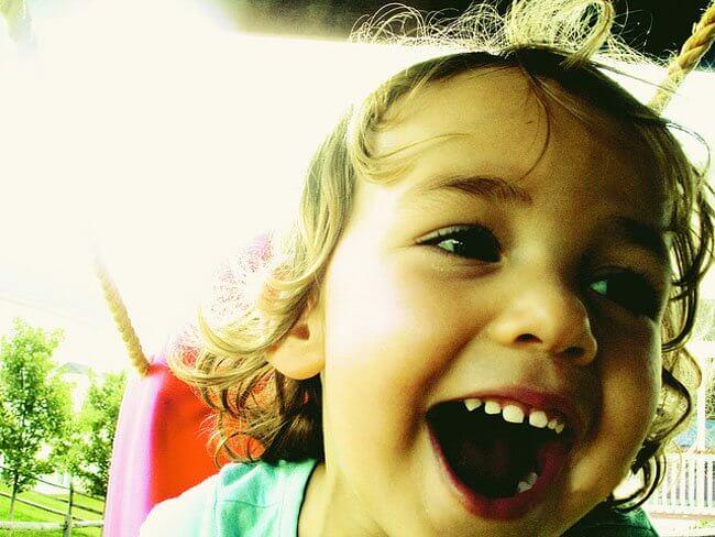 Persönlichkeit: Kind hat Spaß