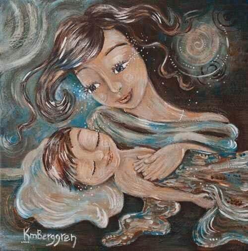 eine zärtliche Mutter - sorgende-mutter-und -baby