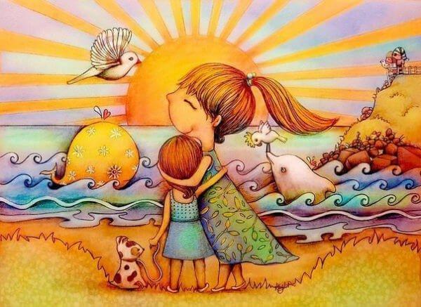 Zeit mit Kindern am Strand