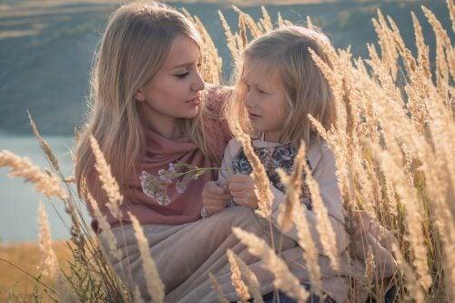 Nein sagen: Mutter mit Tochter
