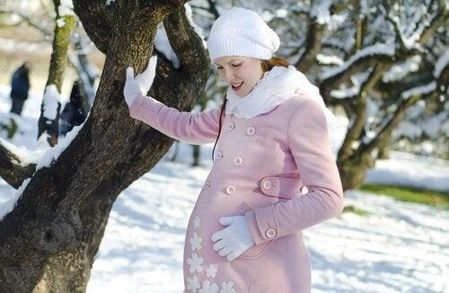 Eine Geburt im Winter erfordert ander Maßnahmen