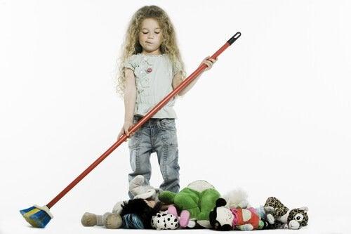 In entspannter Atmosphäre ist es leichter, Kindern Ordnung beizubringen.