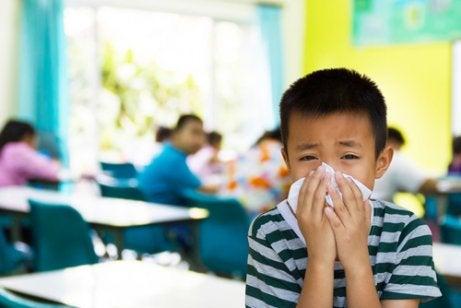 Krankheiten in der Schule.