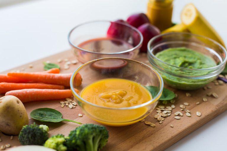 3 proteinhaltige Pürees für Kinder