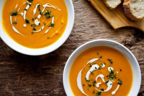 Süßkartoffeln für Suppe