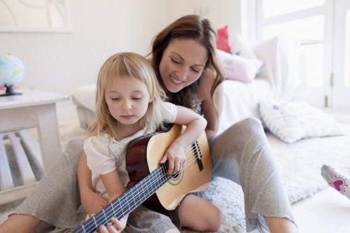 Musikinstrumente in der Kindheit