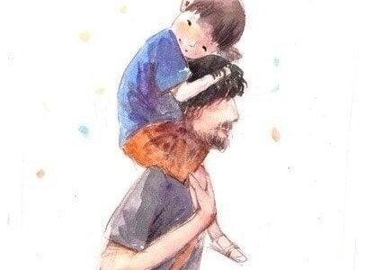 persönliches Wohlbefinden - Vater mit Sohn