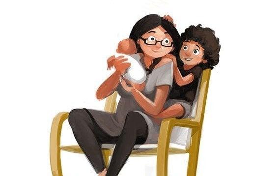 persönliches Wohlbefinden - eine glückliche Familie