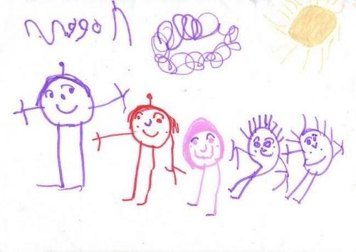 Was kannst du in den Zeichnungen deiner Kinder erkennen?