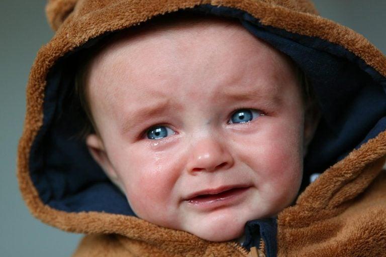Wutausbrüche eines Babys