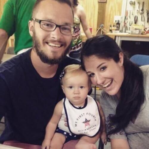 glückliche Familie nach Koma der Mutter