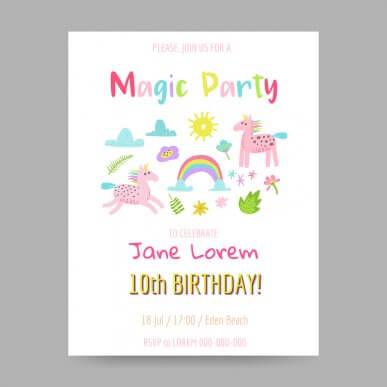 5 Ideen für die Geburtstagseinladung deines Kindes