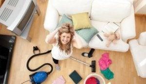 Haus aufräumen