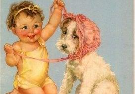 Kind mit Charakter hat Hund
