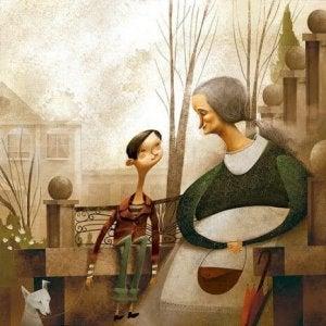 Oma: die tröstende Mutter