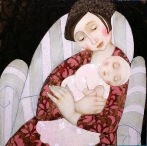 Kind und Mutter mit viel Geduld