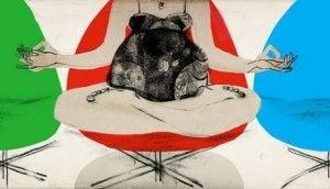 schwangere Frau meditiert