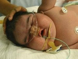 eines der größten Babys der Welt