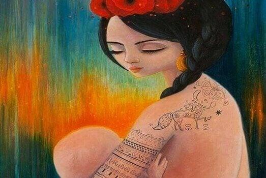 Ich umarme nicht nur den Körper meines Kindes, sondern auch seine Seele