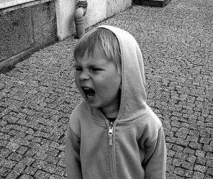 Kind schreit