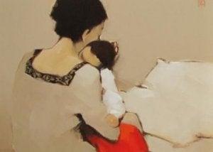 Mutter und Tochter, die Wutanfälle hat