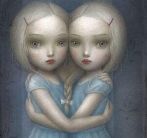 Zwillinge mit Selbstliebe