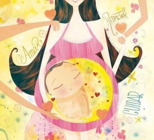 Baby im Mutterleib.
