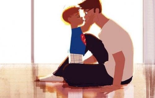 Mein Sohn ist auch sensibel, liebevoll und zärtlich...