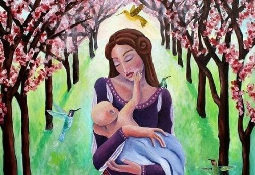 Wenn dein Baby nicht von deiner Brust weg will, vermisst es dich