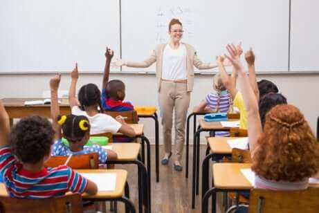 Unterricht in einem Klassenzimmer