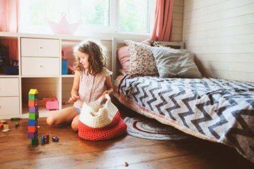 Kinder, die Routinen kennen, lernen organisiert zu sein