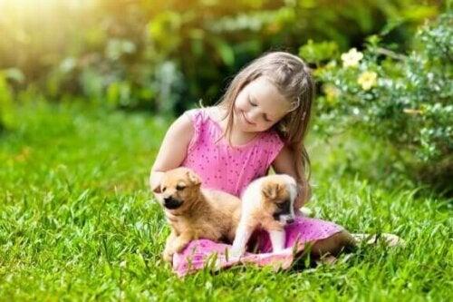 Hunde sind ideale Haustiere für Landkinder