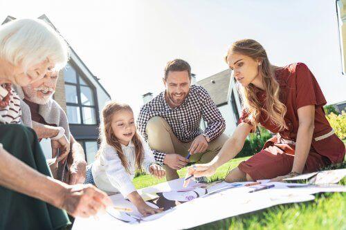 Familienleben - Familie im Garten